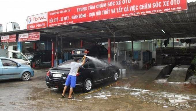trạm rửa xe ô tô