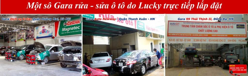 Một số gara rửa - sửa xe ô tô sử dụng máy rửa xe ô tô cao áp