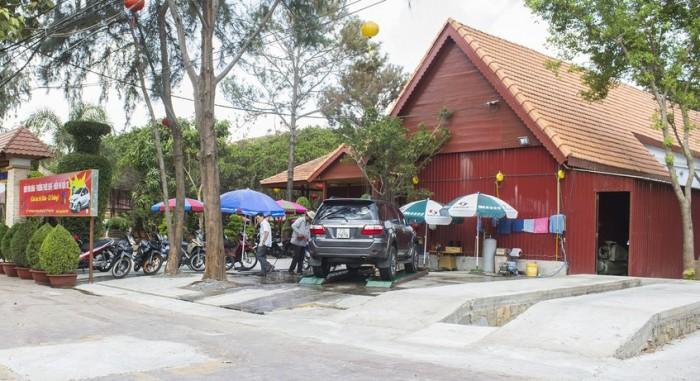 mô hình rửa xe kết hợp cafe