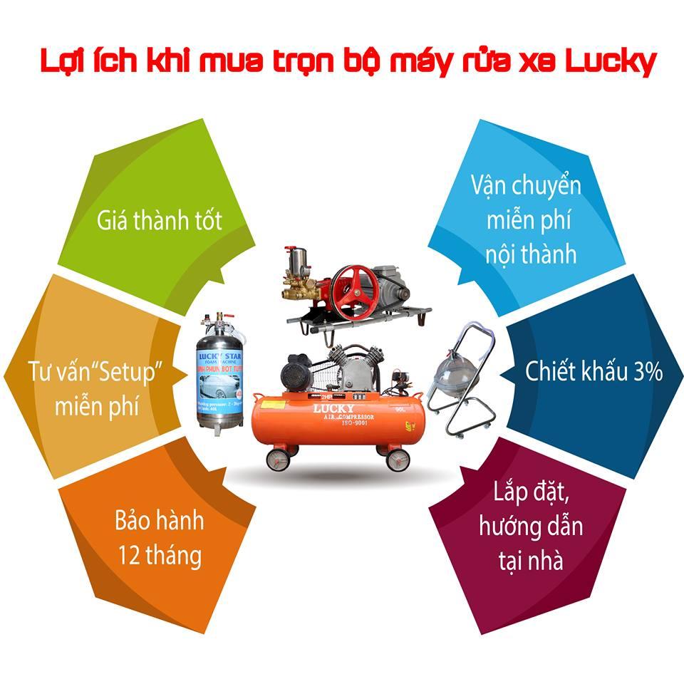 bộ thiết bị rửa xe lucky