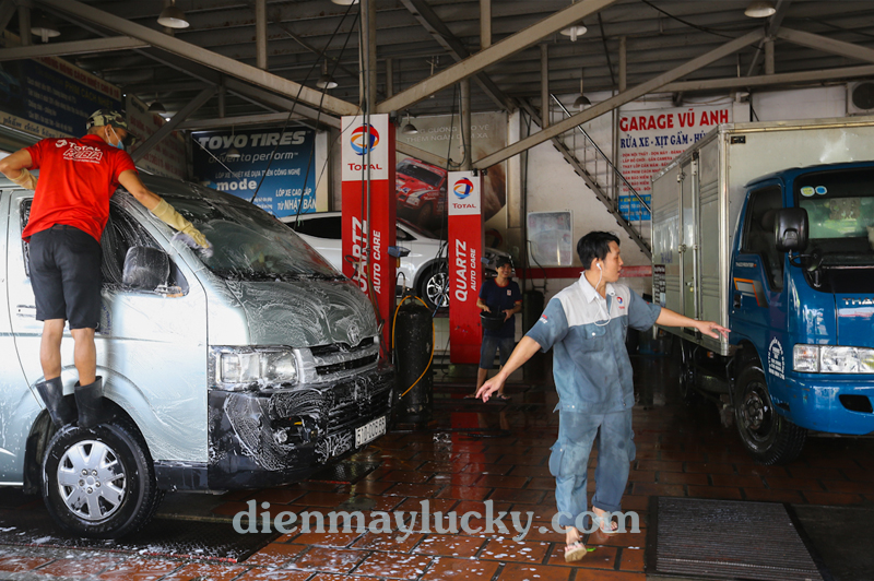 Dây dẫn nước bị rung mạnh trong quá trình sử dụng - máy rửa xe ô tô