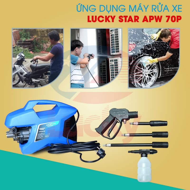 máy rửa xe mini lucky