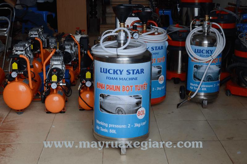bộ thiết bị rửa xe máy kết hợp ô tô