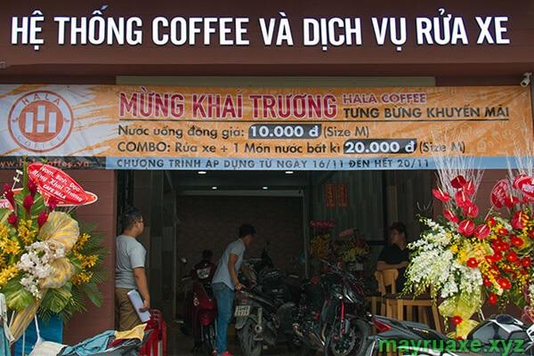 Kinh doanh tiệm rửa xe coffee