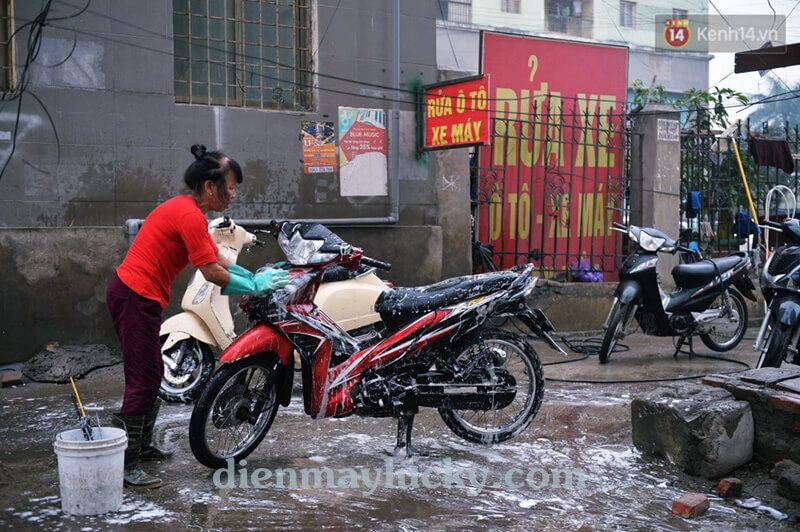 bộ rửa xe máy