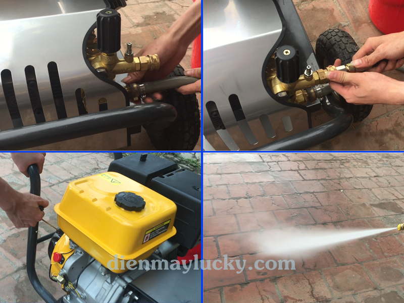 Máy rửa xe ô tô cao áp chạy xăng 13HP